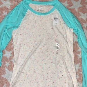 Justice girls long sleeve shirt NWT Size 10